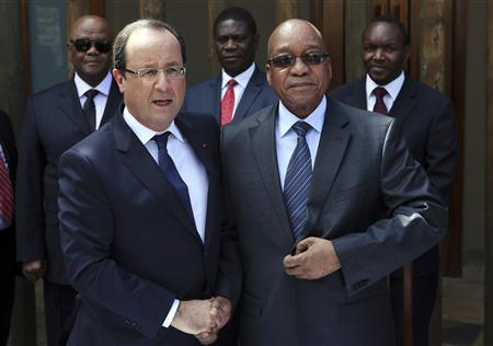 Francois Hollande and Jacob Zuma