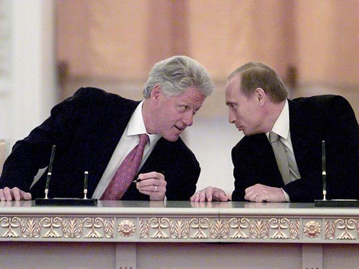 Clinton and Putin sign a memorandum