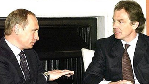 Kremlin picture of Putin with Blair